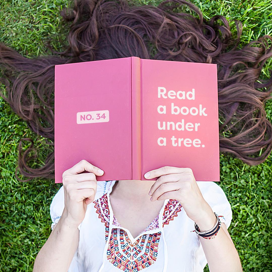 great outdoors colorado read a book under a tree