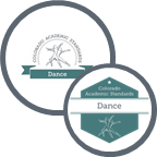 Graphic showing both the 2009 and 2020 logos for dance